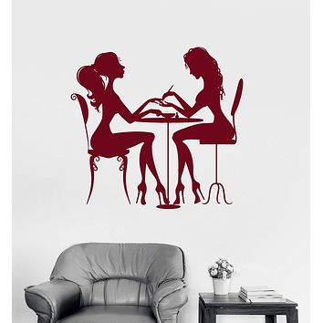Vinyl Wall Decal Beauty Salon Nail Hair Spa for Woman Girl Stickers Unique Gift (ig3123)