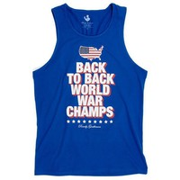 Back to Back World War Champs Tank Top - America Silhouette Edition in Royal Blue by Rowdy Gentleman - FINAL SALE