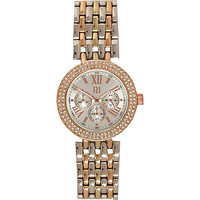 River Island Womens White and gold tone bracelet watch