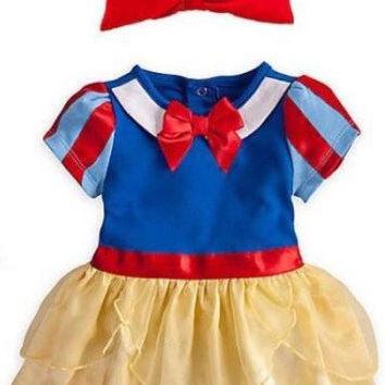 Snow White - Baby Snow White Princess Costume - 2 piece set Romper + Headband