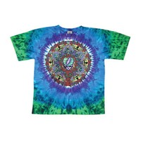 Grateful Dead Men's  Celtic Mandala Tie Dye T-shirt Multi