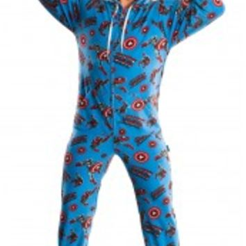 Marvel Footed Pajamas For Adults - Spiderman, Hulk, Iron Man, Captain America Onesuits
