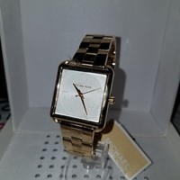 Michael Kors MK3644 Lake Gold Squared White Dial Stainless Steel 32MM