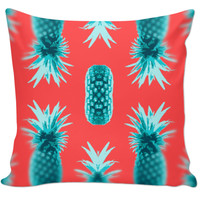 Retro pineapple pillow