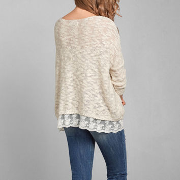 Shannon Lace Hem Sweater from Abercrombie & Fitch