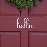 Vinyl Wall Decal--hello