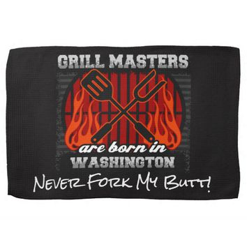 Grill Masters Are Born In Washington Add A Slogan Towels