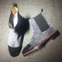 Christian Louboutin CL Boots Style #2099 Sneakers Fashion Shoes Best Deal Online
