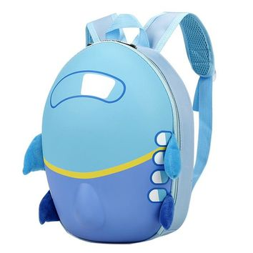 School Backpack trendy Aelicy HOT SELLING 2018 Baby Girls Boys Kids Cute Airplane Cartoon Eggshell Backpack Toddler School Bag mochilas mujer dropship AT_54_4