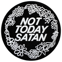 Extra Large Not Today Satan Iron On Back Patch Embroidery Sewing DIY Customise Denim Bianca Del Rio RuPaul's Drag Race Trans LGBT Queer Meme