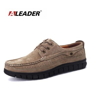 Aleader Men Luxury Oxford Shoes Black Suede Leather Men Shoes Casual Working Shoes Lace Up Dress Shoes For Men Designed Oxfords