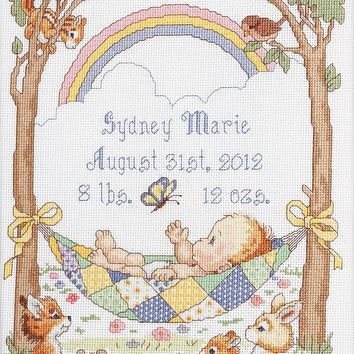 "Our Little Blessing Birth Record Counted Cross Stitch Kit-10""X13.5"" 14 Count"