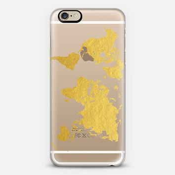 Gold World Map iPhone 6 case by BySamantha \ Samantha Ranlet | Casetify
