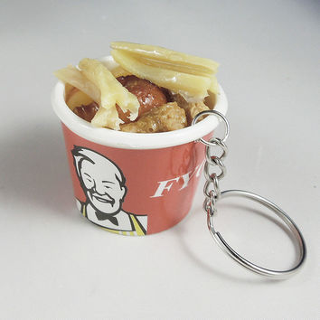 Min orde$10(mix order) Free hipping Artificial food kfc fries keychain keychain