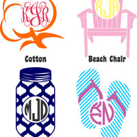 Summer Monogrammed Vinyl Tees - Grab Bag