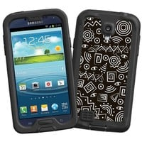 """Black and White Tribal """"Protective Decal Skin"""" for LifeProof fre/nuud Samsung Galaxy S4 Case"""