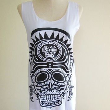 Indians Skull Barbarian Goth Gothic  Skull Design by panoTshirt