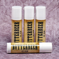 Butterbeer Flavored Lip Balm 4 Pack (Harry Potter Themed Butterscotch, Vanilla, and Marshmallow Lip Balm)