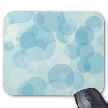 Blue Bubbles Mouse Pad
