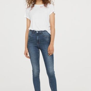 Super Skinny High Jeans - Dark denim blue - Ladies | H&M US