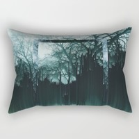 Tree Lines Rectangular Pillow by Ducky B