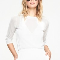 J Brand Atwood Sweater in White | The Dreslyn