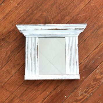White Distressed Shabby Chic Mirror / Picture Frame