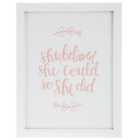 She Believed She Could Framed Wall Art | Hobby Lobby | 1298264