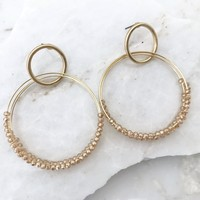 Glistening Gold Earrings