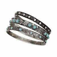 Ethnic Bangle Pack - Turquoise