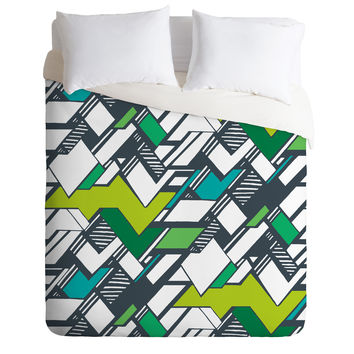 Karen Harris Taliesin Bold Green Duvet Cover