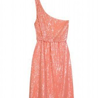 Alice + Olivia - SEQUINED ONE-SHOULDER DRESS - Luxury Fashion for Women / Designer clothing, shoes, bags