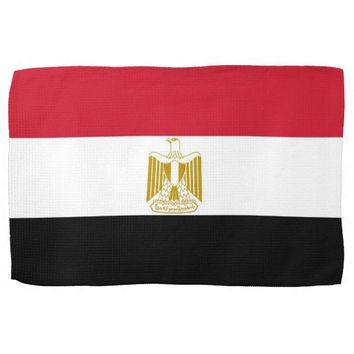 Kitchen towel with Flag of Egypt