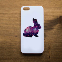 Cosmic Rabbit Handmade white phone case for iPhone 4, 4S, 5 and 5S