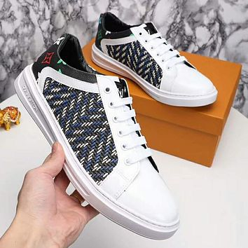 LV Louis Vuitton New Popular Men Casual Embroidery Breathable Flat Sport Shoe Sneakers I-OMDP-GD