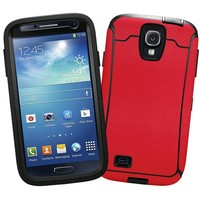 "Textured Carbon Fiber Red ""Protective Decal Skin"" for OtterBox Defender Samsung Galaxy S4 Case"