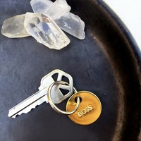 chaparral studio — BOSS KEY / SMALL BRASS KEYCHAIN