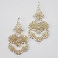 Pierced Chandelier Earrings - Buy From ShopDesignSpark.com