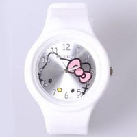 Cute Hello Kitty Pictures Chassis Watch (White) Hot Sale At Wholesale Price - Gadgetsdealer.com