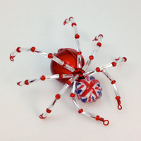 Red, White & Blue Spider Pendant - Union Flag - UK Patriotic