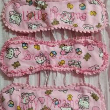 "PinkHello Kitty ""Kitty Dreams"" ""Little Dreams"" ""Daddys Kitty Sleep and Play Masks"