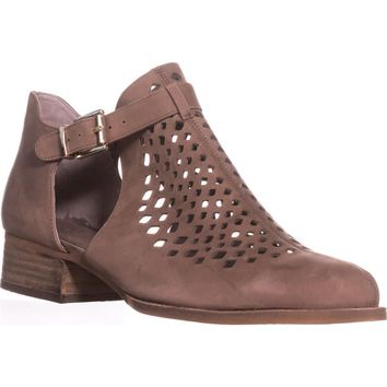 Vince Camuto Cadey Cutout Ankle Booties, Smoke Taupe, 8.5 US