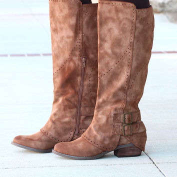 Not Rated: Blaire Riding Boots {Brown}