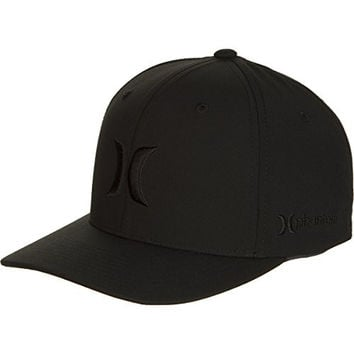 Hurley Men's Phantom Boardwalk Hats Flex Fit, Black, Small/Medium