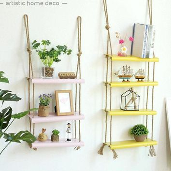 Modern Decorative Colorful Hanging Shelves