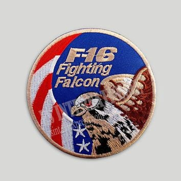 Embroidery Patches for Jacket Back Vest Motorcycle Biker F16 USA Eagle 9 cm