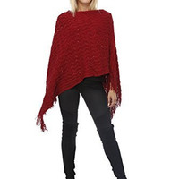 Highness Sequin Fringed Poncho