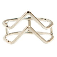 Silver Double Arrow Ring