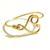 New small heart ring made on gold colored copper wire, gauge 20- keoops8- by keoops8 custom size