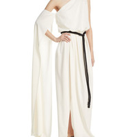 Marc Jacobs One-Shoulder Jersey Gown